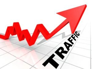 Фото. График роста трафика - traffic.